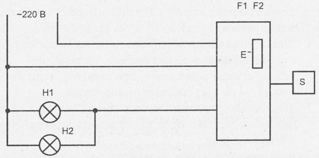 Схема включения светильника с сенсорным регулятором