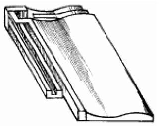 Ленточная черепица с загнутым краем