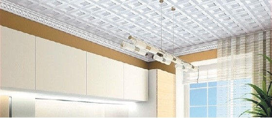 Фотография потолочых плиток на потолке
