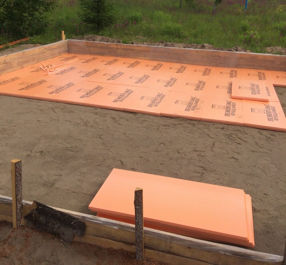 Пеноплекс фундамент для плитного фундамента