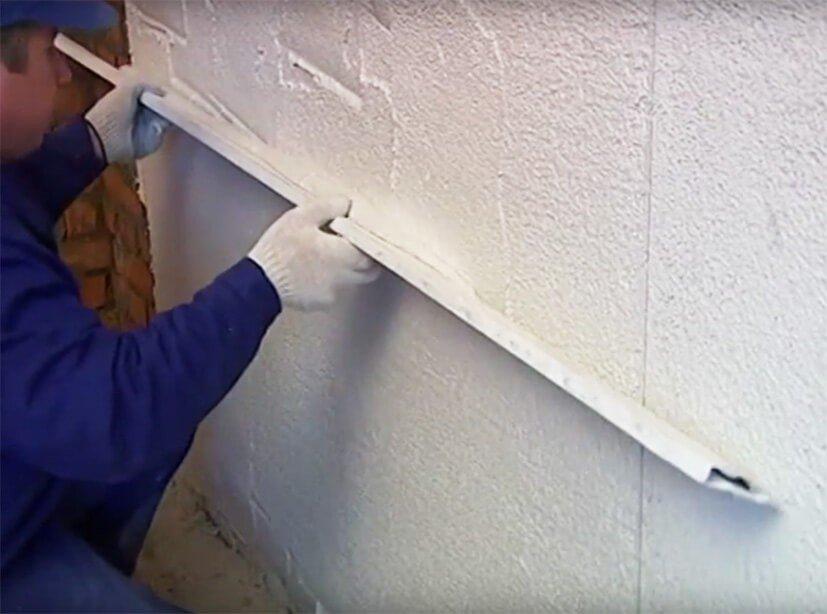Ровняем на стене - Теплая штукатурка