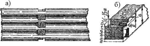 Врубка поперечной стены в долевую