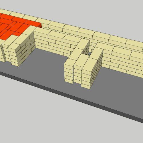 Уличный мангал с казаном, 5 ряд порядовки