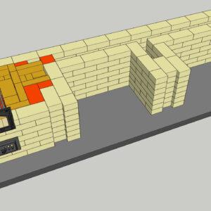 Уличный мангал с казаном, порядовка, создан 7 ряд барбекю