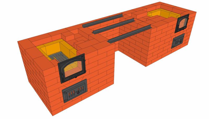 Барбекю с коптильней, порядовка 3D SketchUp