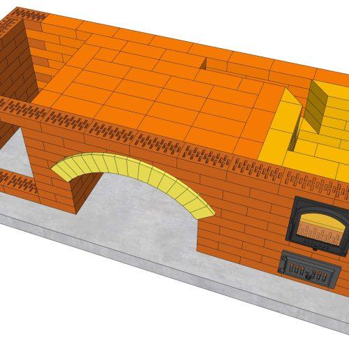Порядовка барбекю файл 3D SketchUp