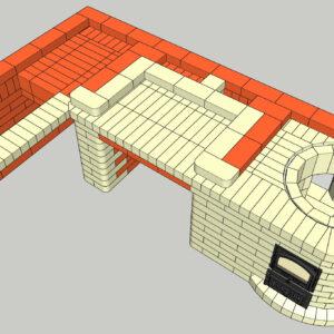 Проект мангала с казаном 3D SketchUp