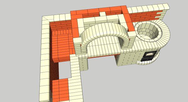 Порядовка проект мангала с казаном, строится арка