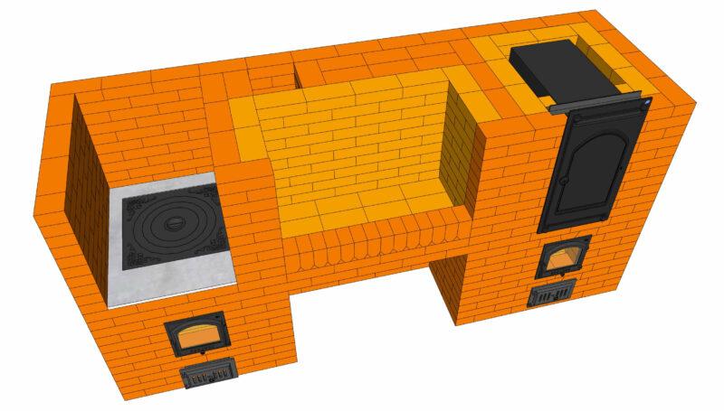 Установка встроенной коптильни в комплекс барбекю