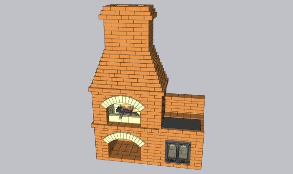 Барбекю с кухонной плитой, файл 3D SketchUp