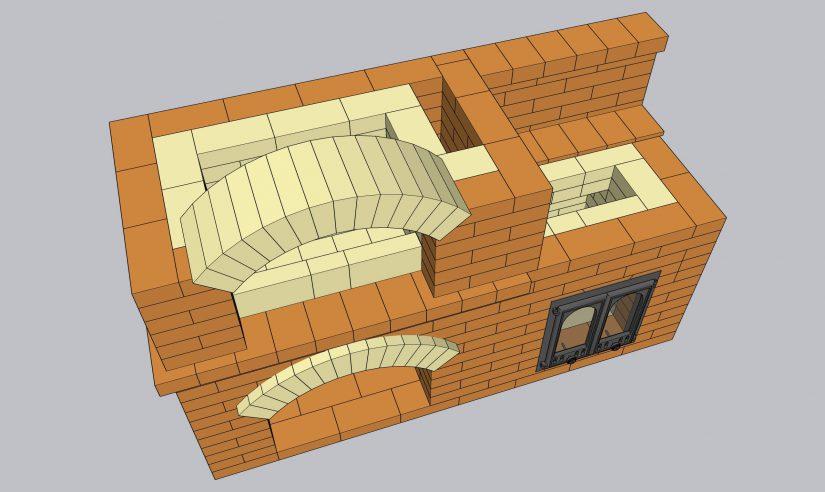 Порядовка барбекю с кухонной плитой в формате 3D SketchUp