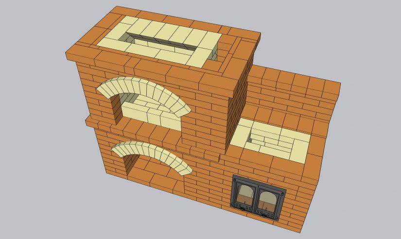 Проект уличного барбекю в формате 3D