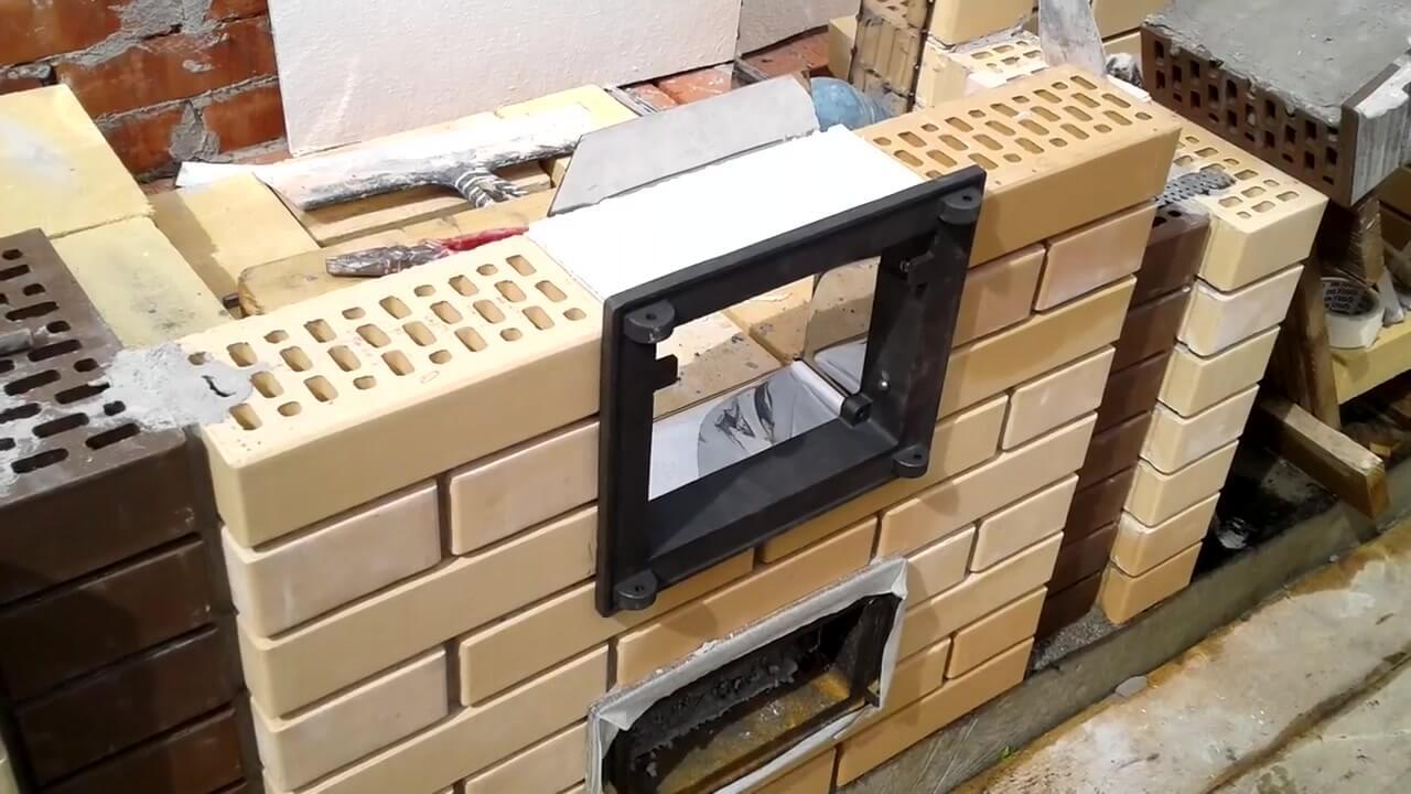 Установили топочную дверку из нержавейки 8 мм