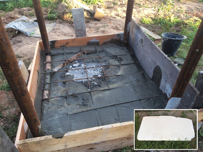 Делаем фундаментную плиту по еврокуб на даче своими руками