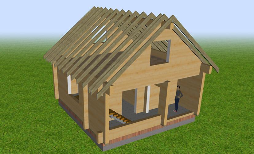 Проект гостевого домика в 3D