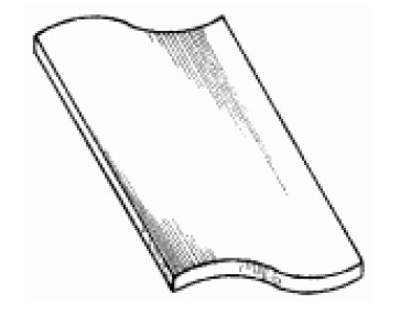 Ленточная черепица с двойным загнутым краем «противень»