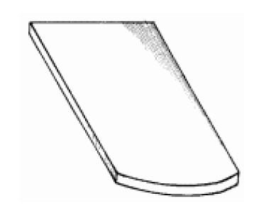 Ленточная черепица с двойным загнутым краем «бобровый хвост»