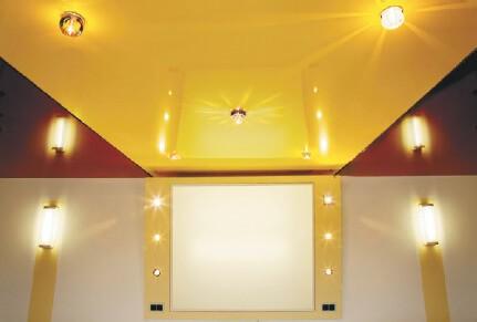 Установка осветительных приборов перед монтажом потолка