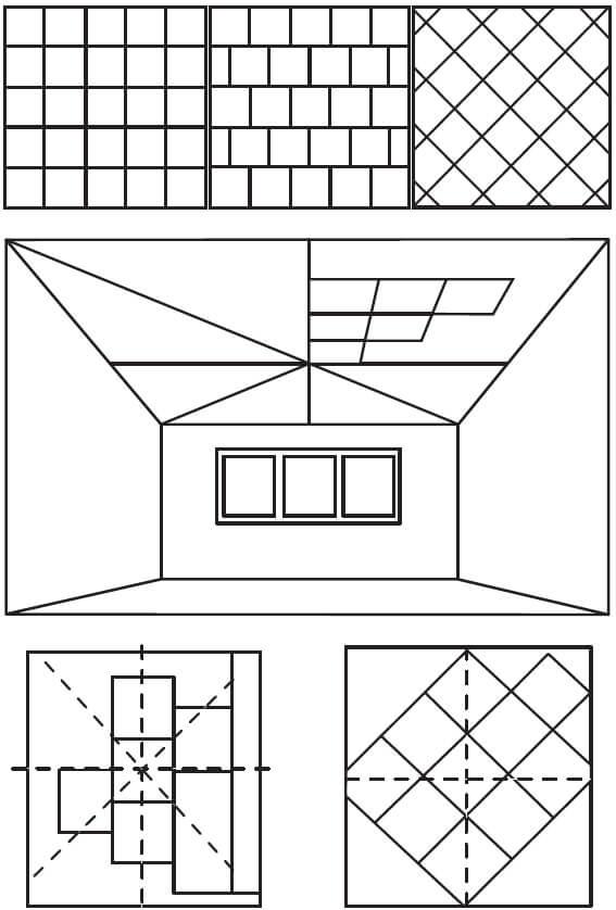 Разметки потолочной плики