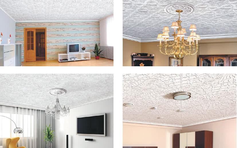 Фотографии с уложенной потолочной плиткой