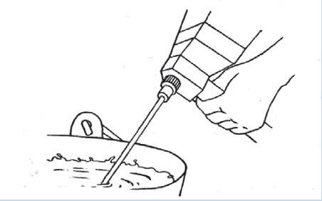 сухую смесь и пигмент нужного оттенка разводят водой