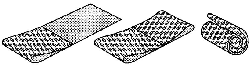 Складывание полосы обоев