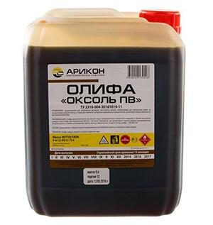 Олифа для защитного слоя кровельных покрытий