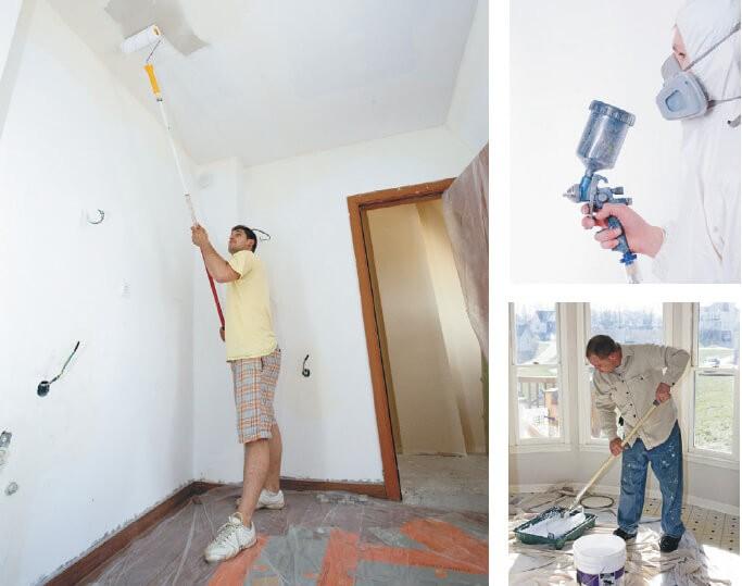 Операции по работе с потолком