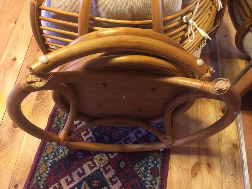 Ремонт мебели из ротана