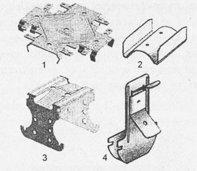 Комплектующие для металлического каркаса