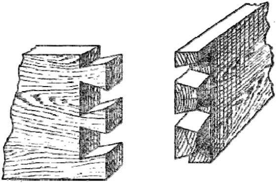 Вязка лапчатым или сковородым шипом