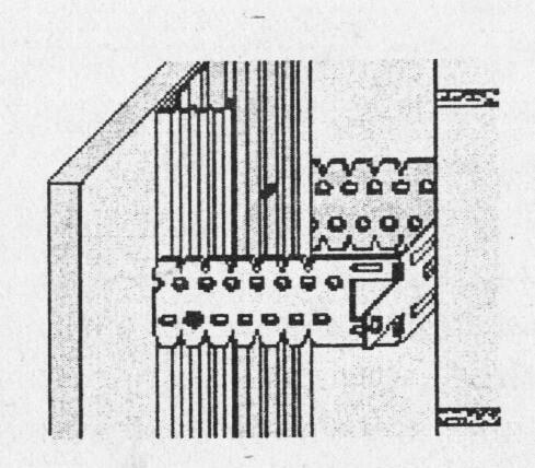 Соединение прямого подвеса и профиля 60x27